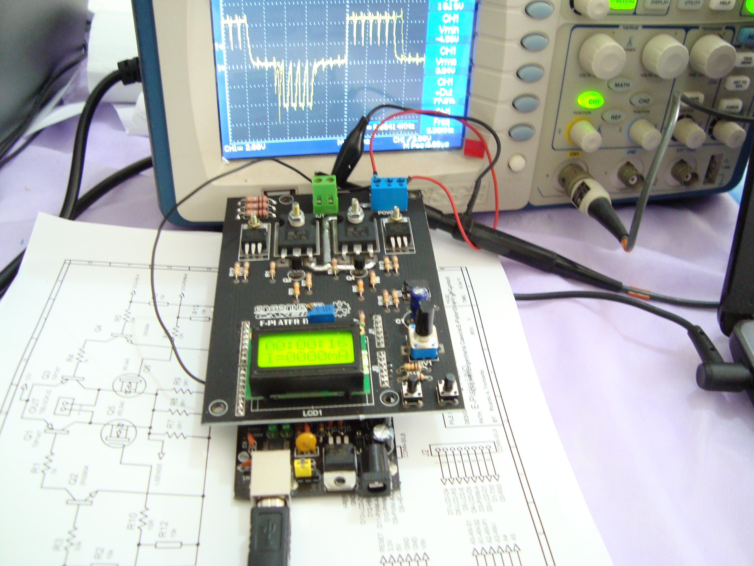 Testes do novo E-Plater para eletrodeposição pulsada
